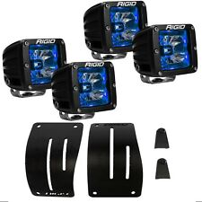 Rigid Cowl Mount w/ Radiance Blue BackLight LED Lights for 18 Jeep Wrangler JL