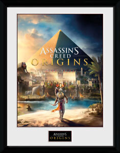 Assassins Creed Origins Cover Framed Collector Print Gaming 30x40cm | 12x16