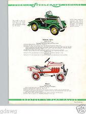 1934 PAPER AD Chrysler Fire Auburn Hot Rod Racer Steelcraft Murray Pedal Car