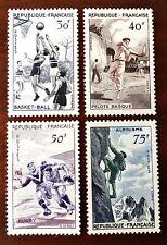 France 1956 SG1297-1300 Sports MLH Set of 4 30Fr-75Fr