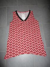 Tee-shirt Tunique camaieu rouge Neuf