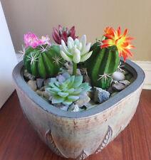 Set of 7 Artificial Succulents 3 colors lotus Yacons Flowering Plants