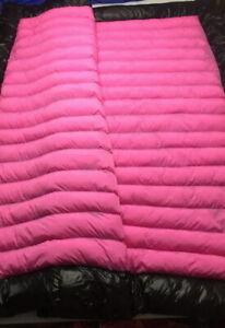 shiny glossy nylon wet look duvet down comforter quilt glanznylon winter blanket