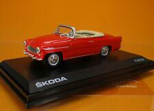 ABR 143ABS-703BK Skoda Felicia Cabrio rot BJ 1963 1:43