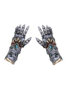 Gloves Horror Latex Guanti Halloween Lattice Funny Fashion Art.74941 One Size