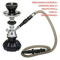 Hookah Black Pumpkin Shisha Pipe Free Flavour x1, Charcoal x 1, Mouth Tips x 4