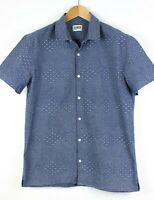 EDWIN Men Nimes Short Sleeve Casual Shirt Top Size L PZ574