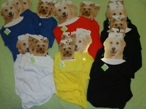 Pet T-Shirt*Solid*Plain*Short Sleeve*Imagin8*Red*Black*White*Yellow*Blue*SML*DOG