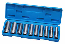 "10 Nüsse Steckschlüssel Lang Nuss 1/2"" 10 - 24 mm Langnüsse Werkzeug"