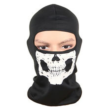 Ghost Hood Head Face Mask Skull Balaclava Head Mask for Cycling Motorcycle Black