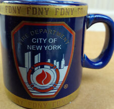 FDNY CITY OF NEW YORK FIRE DEPARTMENT 4 OZ MINI MUG GOLD BAND