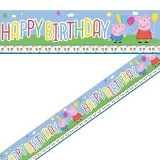 PEPPA PIG Nuovo stile locale Banner Kids Festa di Compleanno Decorazioni RAGAZZI / RAGAZZE PARTY