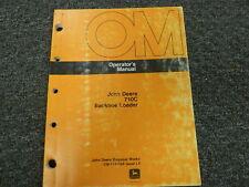 John Deere 710C Backhoe Loader Owner Operator Maintenance Manual OMT125604