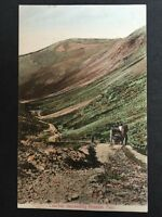 Vintage Postcard - Cumberland #129 - RP Descending Honister Pass - Cab / Coaches