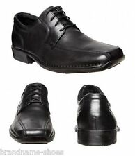 MENS HUSH PUPPIES POWER EXTRA WIDE MEN'S LEATHER WORK BLACK LACE UP DRESS SHOES