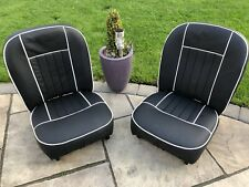 MGC  SEATS 1967 On   Rebuilt - Full LEATHER Black/ White Piping Outright Sale