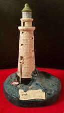 """Castle Studios Inc. Minots Ledge Ma # 131 Harbour Lights Lighthouse 6 1/2"""" h"""