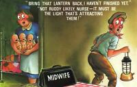 COMIC BAMFORTH FATHER of TRIPLETS SCARED of MORE BABIES POSTCARD - NEW