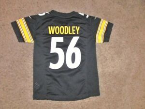 Pittsburgh Steelers LAMARR WOODLEY Nike On Field Football Jersey youth Small