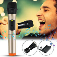 Professional UHF Wireless Microphone Karaoke LCD Receiver System Strong  g ✯