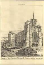 1893 Design For New Cathedral Victoria British Columbia, H Wilson Architect