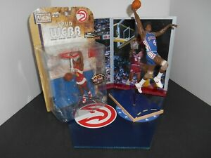NBA Photo Display Base + Rare Spud Webb + Julius Erving McFarlane Figures