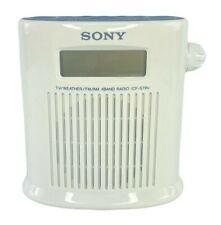 Vintage Sony ICF-S79V TV Weather FM AM 4Band Splash Resistant Shower Radio