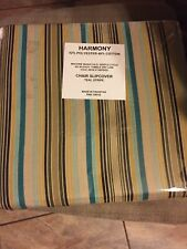 New Harmony CHAIR SLIPCOVER TEAL STRIPE