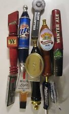 Lot of 10 Different Vintage Beer Tap Handles