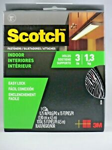 NEW Scotch™ Indoor Fasteners RF4761, 3/4 in x 15 ft (19 mm x 4,57 m) Black