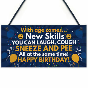 Funny 40th 50th 60th Birthday Gifts For Men Women Birthday Decorations Plaque