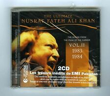 2 CDs (NEW) ULTIMATE NUSRAT FATEH ALI KHAN VOL 2 (1983 >1984)