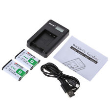2x Battery + USB Charger NP-BX1 for Sony NP-BX1 RX1 RX1R RX100 Ⅱ DSC-WX300 New