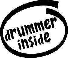 Drummer Inside Vinyl Sticker Decal Funny Music Bass - Choose Size & Color