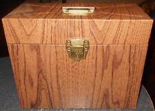 Vintage Ballonoff Metal Porta File Cabinet Upright Wood Grain Ohio USA Retro