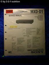 Sony Service Manual MXD D1 (#1365)