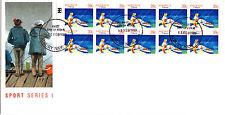 1989 Sports Series I (39c Stamp Booklet) FDC - Albury NSW 2640 PMK