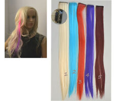 Haarverlängerung bunt glatt 48cm lang Clip in extension Haarsträhne Kunsthaar a