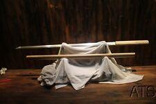 Japanese Folded Blade Straight Sword CHOKUTO SHIRASAYA Sharp Full Tang