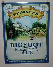 SIERRA NEVADA BEER POSTER BIGFOOT ALE CRAFT MICRO BEER