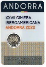 Coincard 2 euros commémo Andorre 2020 (Sommet Ibéro-Américain Cimera Ibero)