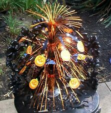 HALLOWEEN TABLE TOP PUMPKINS AND BATS GLIMMERING TREE CENTERPIECE DECORATION