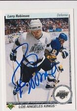 90/91 Upper Deck Larry Robinson Los Angeles Kings Autographed Hockey Card
