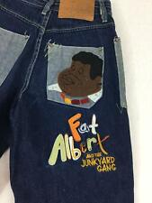 Vintage FUBU Fat Albert Junkyard Gang Jeans Boys Size 10 Platinum Applique Blue