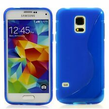 Samsung Galaxy S5 mini Silikon Schutz Case Handy Hülle Etui S-Line Blau