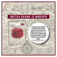 Guyana - 2014 - Rare Stamps British Guiana 1c Magenta - Souvenir Sheet - MNH