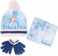 Disney Frozen 2 Hat Scarf and Gloves Winter Set Kids With Elsa