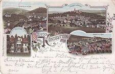 I 78 -Königstein Taunus mit Prießssnitzbad u. a. Ansichten,frühe Litho 1897