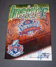 JAGUARS signed PLAYOFF GAME PROGRAM Jan 23 2000 BRUNELL BOSELLI BRACKENS + more