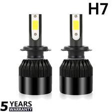2pcs H7 LED Headlight Conversion Bulb Kit 72W 9000LM Car Free Error 6000K White